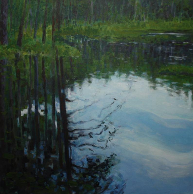 Dark Corner of Wooded Pond